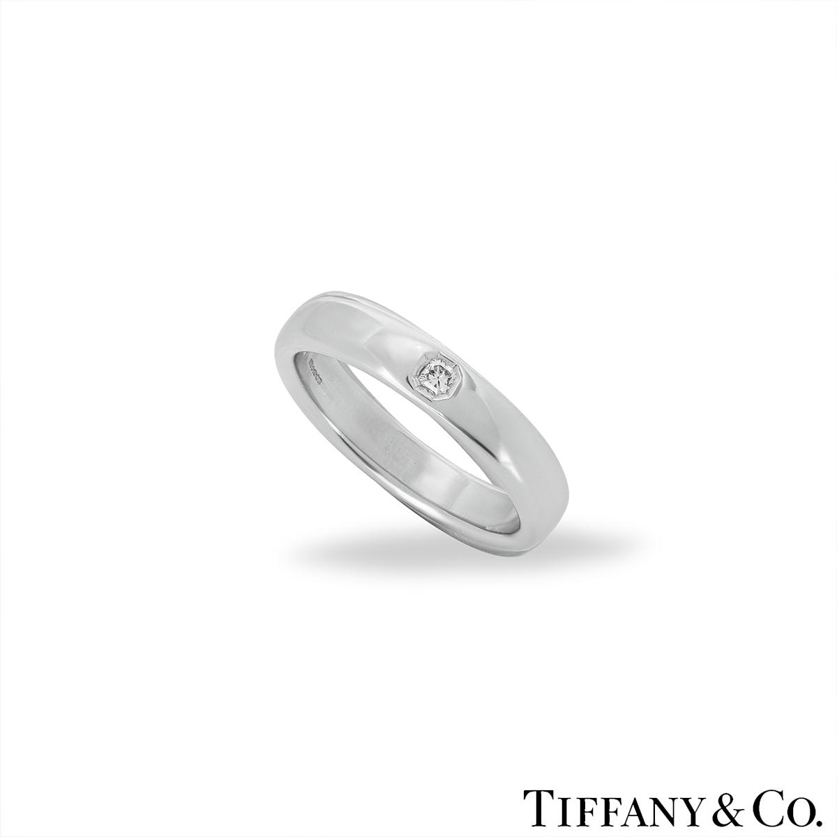 Tiffany & Co Lucida Diamond Wedding Ring in Platinum